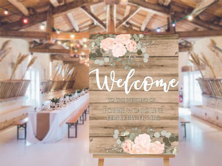 Wedding Welcome  -  Extra Large  Metal Wall Sign